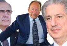 Les 3 anciens Présidents de la République, Michel Sleiman, Emile Lahoud et Amine Gemayel