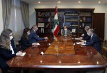 La rencontre entre le coordinateur spécial de l'ONU au Liban Jan Kubis et le Président de la République, le Général Michel Aoun. Crédit Photo: Dalati & Nohra